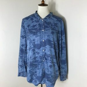 The Kooples Lyocell Denim Hawaiian Shirt